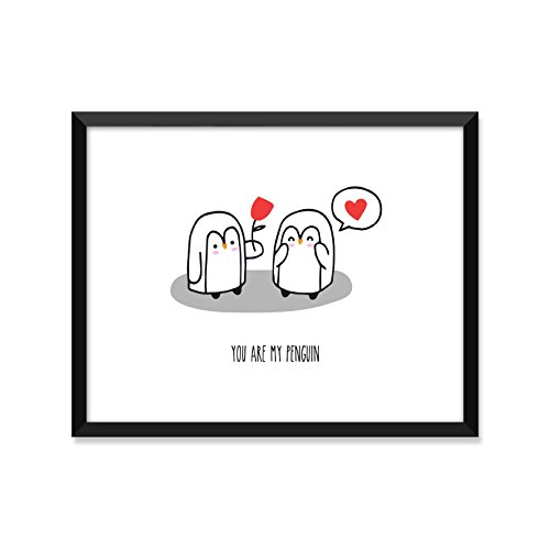 You Are My Penguin, Inspirational Quote, Minimalist Poster, Home Decor, College Dorm Room Decorations, Wall Art