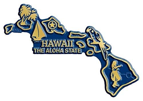- Hawaii State Map Fridge Magnet