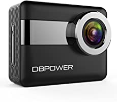 """DBPOWER N6 4K Touchscreen Action Camera, 2.31"""" LCD Touchscreen 20MP Sony Image Sensor 170° Wide-Angle Waterproof WiFi Sports Camera, 2 Batteries included in Accessories Kit (Christmas Edition)"""
