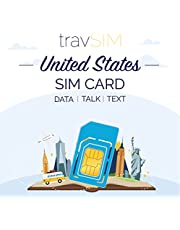 travSIM VS SIM Kaart (AT&T SIM Kaart) Geldig voor 15 Dagen - 22GB 3G 4G LTE Mobiele Data - Verenigde Staten AT&T US SIM Kaart (Werkt ook in Canada & Mexico)