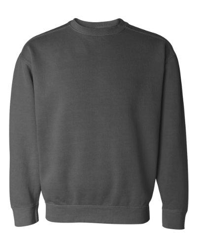 (Comfort Colors Pigment-Dyed Crewneck Sweatshirt, S, Pepper)