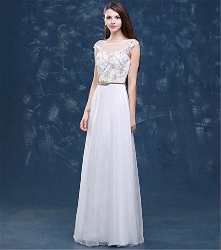 Para Trapecio Blanco Mujer Vestido Drasawee q8TP7wY