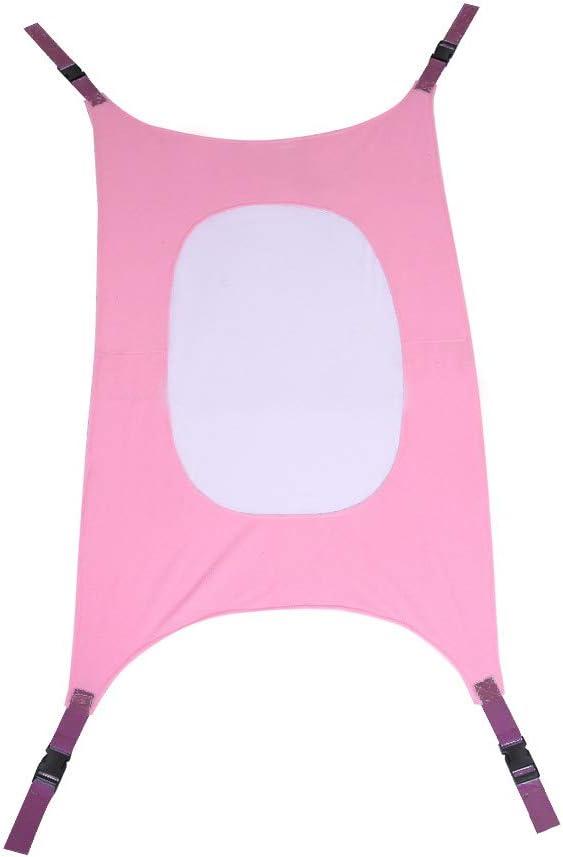 Doo - Hamaca portátil de malla para bebé, hamaca elástica ajustable y segura y extraíble., rosa