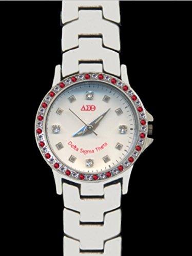 Delta Sigma Theta Swarovski Crystal Watch