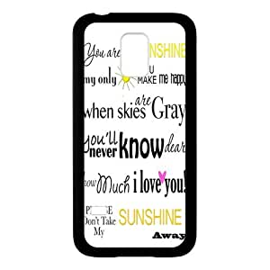 SamSung Galaxy S5 mini Rubber Case, Funny Quote You Are My Sunshine Protector Skin Cover Case