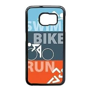 Samsung Galaxy S6 Edge case(TPU), triathlon Cell phone case Black for Samsung Galaxy S6 Edge - HHKL3322959