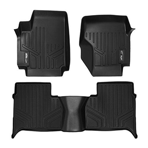 SMARTLINER Custom Fit Floor Mats 2 Row Liner Set Black for 2011-2014 Volkswagen Amarok - All Models
