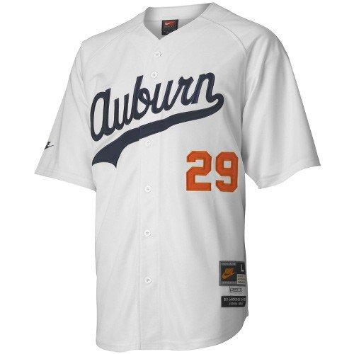 b37863938 Amazon.com : Nike Auburn Tigers #29 Bo Jackson White Tradition Defined Baseball  Jersey : Sports & Outdoors