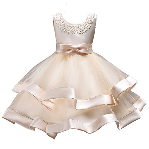 Princess Tulle Tutu Girl Dress Wedding Pageant Party Baby Dresses Age 3-9 Years