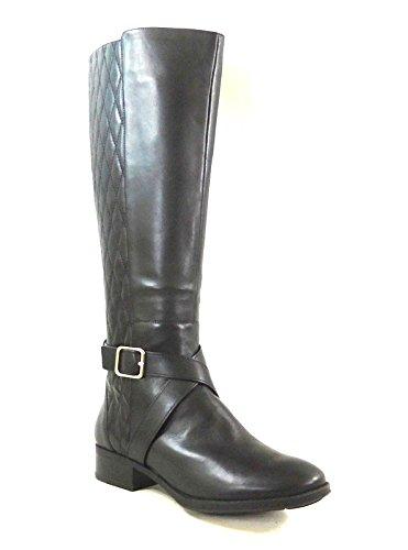 DKNY Mattie Knee-High Boots Black Leather - Boots Dkny