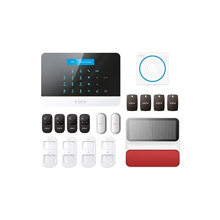 Wireless Home Security Smart Burglar Alarm Kit Pet Friendly DIY Kit No Wires Touch Panel Control From Free Smart App…