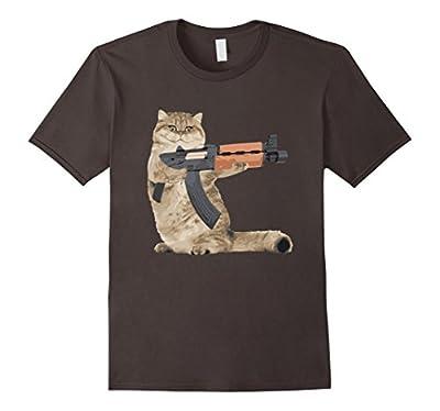 AK47 Kalashnikat Funny Cat Gun TShirt Kitty T Shirt