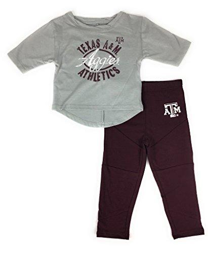 Gen 2 Baby Girls Texas A M Aggies Football Sweetheart Shirt Pant Set
