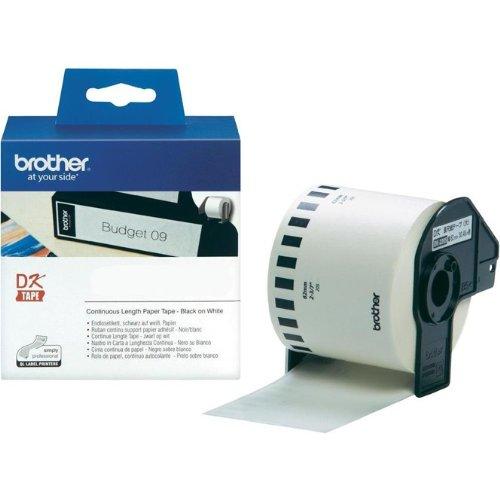 P-Touch QL 710, QL 710W Brother Etiketten 62 mm x 30,48 meter, Papier, 1 Endlosetikett, DK Label für Ptouch QL710, QL-710 W Faxland