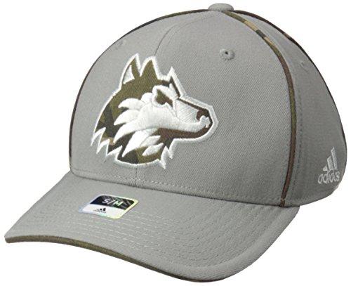 adidas NCAA Northern Illinois Huskies Men's Hint of Camo Flex Fit Cap, Large/X-Large, (Huskies One Fit Cap)
