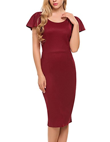 Style Women's Retro Business ACEVOG Dress 1956s Pencil Bodycon 7tqwFO