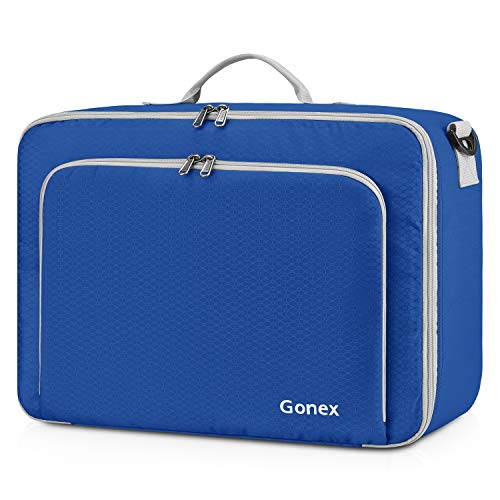 Gonex Travel Duffel Bag, Portable Carry on Luggage Personal Item Bag for Airlines, Water& Tear-Resistant 20L Deep blue