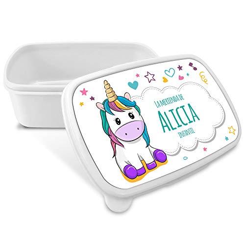 Comprar Caja Merienda Unicornio Vuelta al Cole Personalizada con Nombre/Curso. Varios Diseños a Elegir - Tiendas Online Envíos Baratos