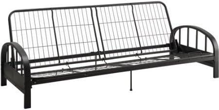 aiden metal futon frame black durable black metal frame construction quality mesh frame futon frames   amazon    rh   amazon
