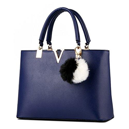 Pahajim - Bolso mochila  de Piel para mujer Deep Blue