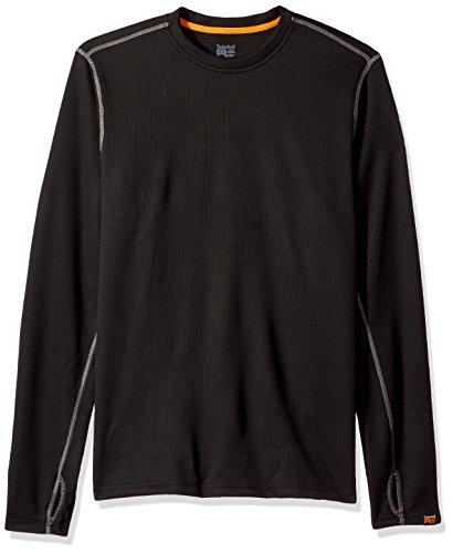 Timberland PRO Men's Skim Coat Light Thermal Top, Jet Black, Large