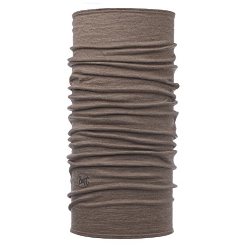 Brown Headwear - BUFF Unisex Lightweight Merino Wool, Walnut Brown , OSFM
