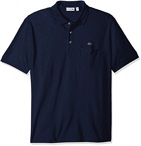 Lacoste+Men%27s+Short+Sleeve+Regular+Fit+Solid+Polo+with+Pocket%2C+Philippines+Blue+Chine%2C+8