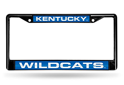 Rico Industries NCAA Kentucky Wildcats Laser Cut Inlaid Standard Chrome License Plate Frame, 6