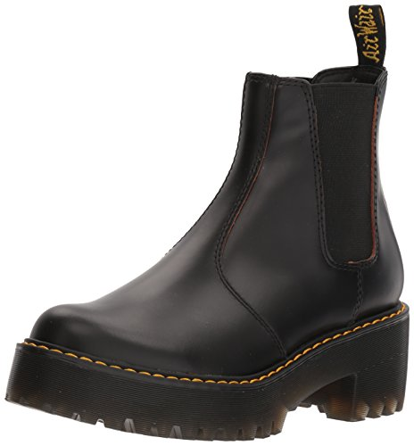 Dr. Martens Women's Rometty Smooth Leather Fashion Boot, Black, 6 Medium UK (8 US)