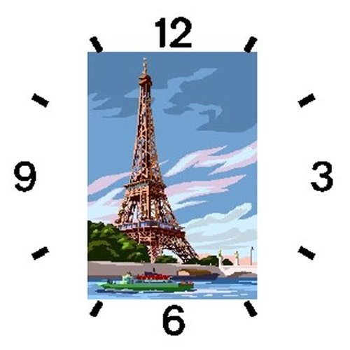 Eiffel Tower - Panoramic View from the Seine River Paris & France Theme - WATCHBUDDY ELITE Chrome-Plated Metal Alloy Watch with Metal Mesh Strap-Size-Large ( Men's Size or Jumbo Women's Size )