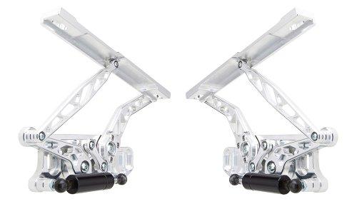 Ringbrothers 22657-1032NS Chevrolet Chevelle Billet Aluminum Natural Finish Air Frame Hood Hinge – Pair
