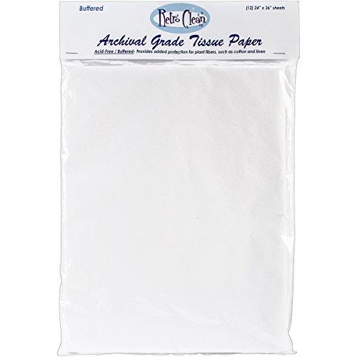 Retro Clean Archival Grade Tissue Paper, Buffered, 24-Inch by 36-Inch, 12 (Retro Gift Wrap)