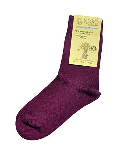 Grödo (Groedo) Organic Cotton Children Kids Socks (3-pack) Made in Germany (9-10 Years, Blackberry) (Childrens Cotton Organic Clothing)