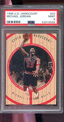 1998-99 Upper Deck Hardcourt #23 Michael Jordan Insert PSA 9 Graded NBA Basketball Card