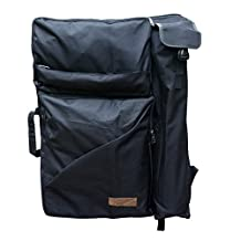 """Artoop Water-resistant Artist Portfolio Tote and Backpack Canvas Bag for Art Supplies Storage and Traveling Size 26""""x19.4"""" Black Color"""