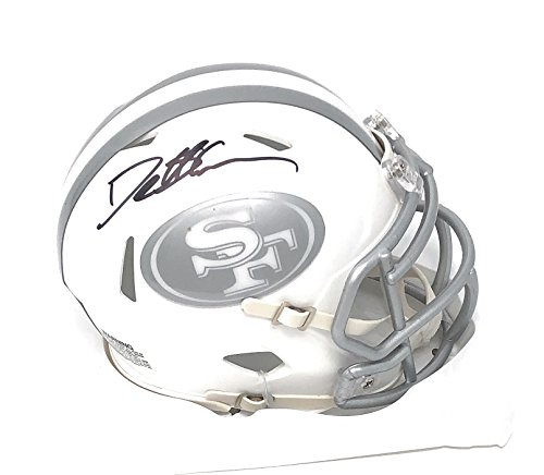 Deion Sanders San Francisco 49ers Signed Autograph Ice Mini Helmet Sanders GTSM Player Hologram