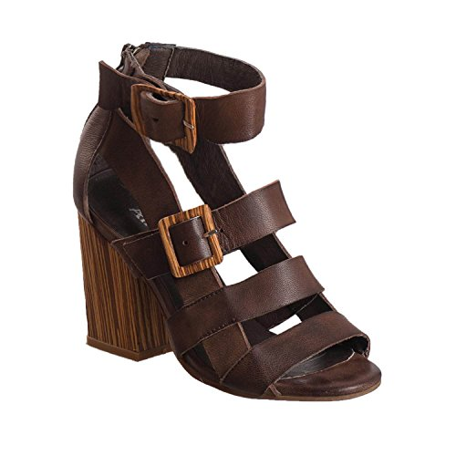 Antelope Women's 785 Coffee Leather Buckles & Straps 39