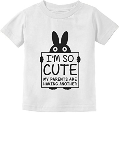 Tstars I'm So Cute My Parents Are Having Another Funny Toddler/Infant Kids T-Shirt 2T White (My Chart M)