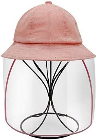 サンバイザー 帽子 子供 大人 花粉症対策 防塵 フェイスカバー UVカット つば広ハット 日除け帽子 通学 通勤 旅行用 超軽量 (ピンク, 大人)