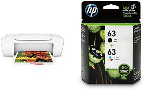 HP DeskJet 1112 Compact Printer (F5S23A) with Std Ink Bundle
