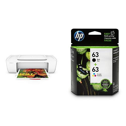HP DeskJet 1112 Compact Printer (F5S23A) with Std Ink Bundle by HP (Image #1)