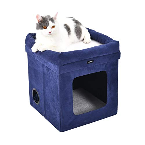 AmazonBasics Collapsible Cube Cat Bed