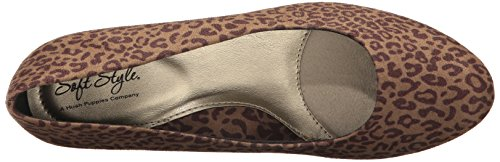 Stile Morbido Hush Puppies Donne Pompa Abito Gail Leopardo Tan
