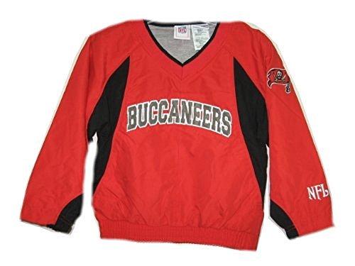 Tampa bay Buccaneers Red NFL Kids Pullover Windbreaker Jacket (Kids 6/7) ()