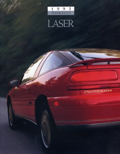 1993 Plymouth Mitsubishi Laser 20-page Original Sales Brochure Catalog