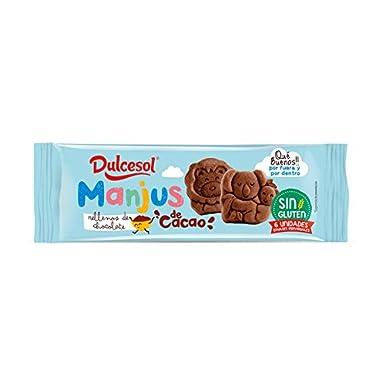 DULCESOL 🍪🦁🍫 Manjus de cacao (sin gluten) - 6 unidades ...