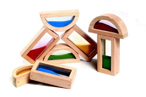 Guidecraft USA Rainbow Blocks - Blocks Usa Rainbow Guidecraft
