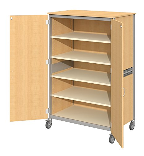 Fleetwood 98.5039.3HU.000-fsnmple Shoreline General Storage Cabinet with Locking Doors and 4 Shelves in Fusion Maple Laminate