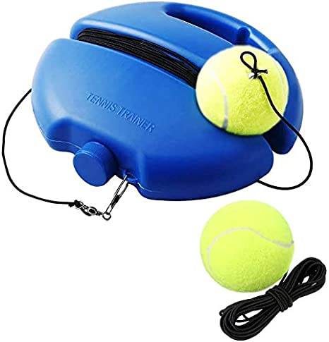 EEM Tennis Return Trainer, Solo Tennis Trainer, Rebounder Tennis Ball Practice Equipment, Tennis Trainer Ball with String, Tennis Training Tool