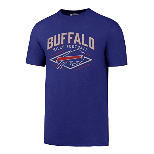 OTS NFL Buffalo Bills Men's Rival Distressed Tee, Medium, Royal-I - Buffalo Bills T-shirt